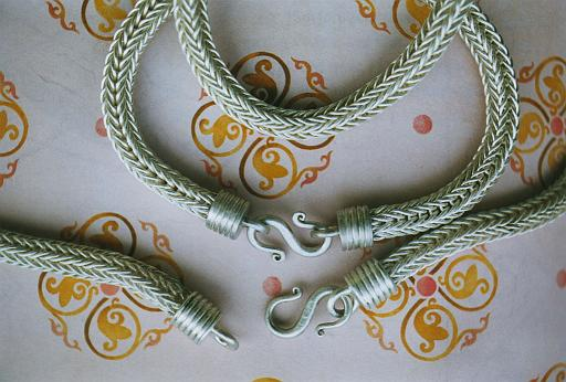 Hand-made chains done after antique patterns