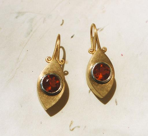 Fireopal earrings