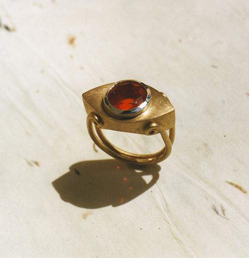 Fireopal ring