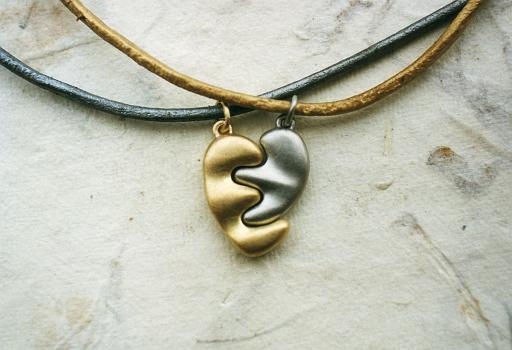 Heart-shaped pendants